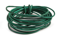 Natural Emerald Round Leather Cord 1.5mm