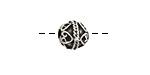 Greek Pewter Ornate Round 9mm