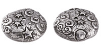 Green Girl Pewter Starry Night Bead Cap 23mm