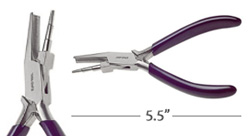 Wire Looping Plier w/ Concave Lower Jaw