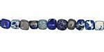 Midnight Blue Impression Jasper Tumbled Cube 4-5mm