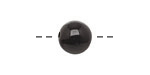 Tagua Nut Black Round 11-12mm