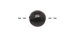 Tagua Nut Black Round 11-12mm