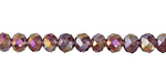 Amethyst AB Crystal Faceted Rondelle 6mm