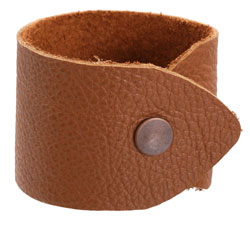 "The Lipstick Ranch Light Rust Leather Cuff Bracelet 1 7/8"" x 9"""