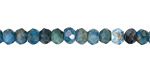 Pacific Blue Apatite Faceted Rondelle 5mm