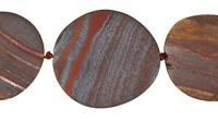 Tiger Iron (matte) Flat Freeform Oval 25-45x24-35mm