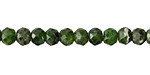 Chrome Diopside Faceted Rondelle 4-5x5-6mm
