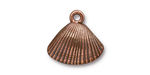 TierraCast Antique Copper (plated) Shell Charm 18x17mm