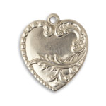 Vintaj Pewter Branching Heart 24x28mm