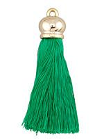 Emerald Thread Tassel w/ Metallic Gold Plastic Tassel Cap 70mm