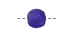 African Recycled Glass Cobalt Tumbled Round (large hole) 10-12mm