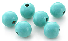 Turquoise Wood Round 20mm