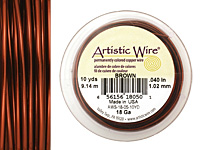 Artistic Wire Brown 18 gauge, 10 yards