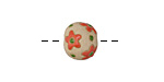 Golem Studio Coral Flowers Carved Ceramic Round Bead 12x13-14mm