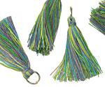 Rasta w/ Jump Ring Thread Tassel 30mm