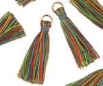 Wildflowers w/ Jump Ring Thread Tassel 30mm