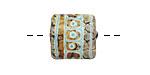 A Beaded Gift Copper Raku Tribe Glass Puff Pillow 14mm