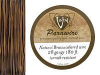 Vintaj Natural Brass Parawire 28 gauge, 180 feet