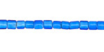 African Trade Beads Turquoise White Heart Glass Tube 5-6x4mm