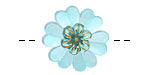 Czech Glass Azure Primrose Button 22mm