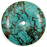 Chinese Turquoise Donut 60-70mm