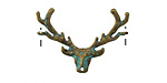 Patina Green Brass Small Stag Head Focal 29x20mm