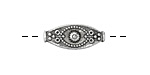 Zola Elements Antique Silver (plated) Bali Style Tapered Oval 20x8.5mm