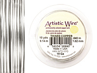 Artistic Wire Tinned Copper 18 gauge, 10 yards