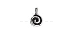 Greek Pewter Spiral Bead Bail 8x13mm