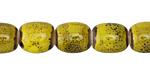 Mustard w/ Speckles Porcelain Barrel 7x10mm