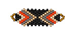 Retro Hand Woven Focal Piece 36x12mm