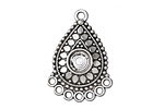Zola Elements Antique Silver (plated) Decorative Drop Chandelier Focal 26x36.5mm