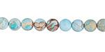 Arctic Blue Impression Jasper (matte) Round 6mm