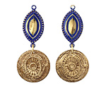 Vintaj Vogue Lapis Deco Medallions Assortment