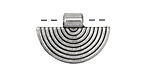Zola Elements Antique Silver (plated) Small Inverted Rainbow Focal 25x18mm