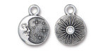 TierraCast Antique Silver (plated) Starry Night w/ Crystal Charm 15x19mm