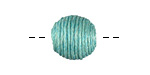 Sea Green Thread Wrapped Bead 14mm