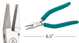 Classic Wubbers Large Flat Nose Pliers 6.5""