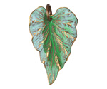 Vintaj Vogue Natural Brass Woodland Leaf 23x38mm