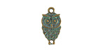 Zola Elements Patina Green Brass (plated) Petite Owl Charm 9x18mm
