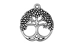 Antique Silver Finish Celtic Tree of Life 24x26mm