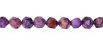 Purple Crazy Lace Agate Star Cut Round 6mm