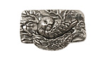 Green Girl Pewter Nesting Bird Toggle 32x20mm, 20mm bar