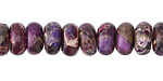 Purple Impression Jasper Rondelle 10mm
