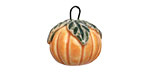 Earthenwood Studio Ceramic Pumpkin Charm 16x19mm