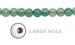 Green Aventurine Round (Large Hole) 6mm