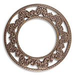 Vintaj Natural Brass Domed Scrollwork Layering Window 45mm