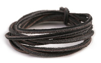 Black Vintage Leather Cord 2mm