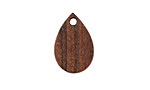 Walnut Wood Teardrop Focal 11x17mm